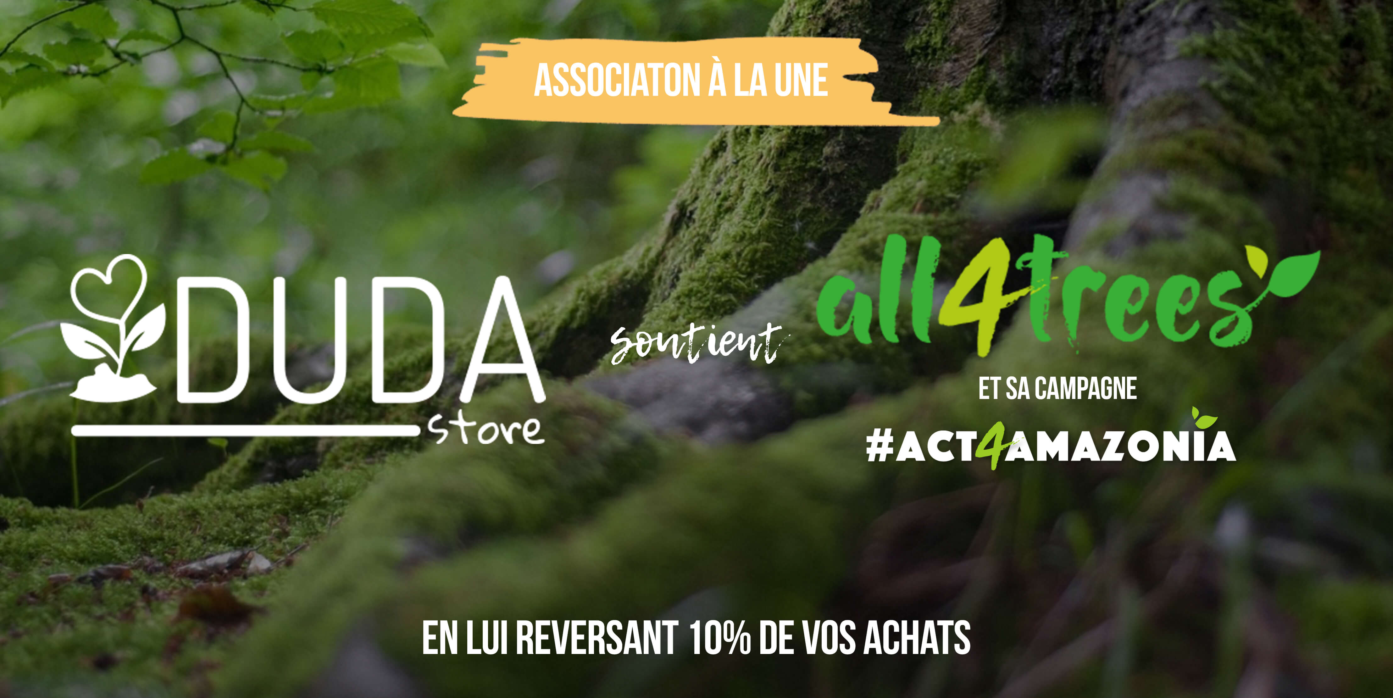 La communauté all4trees et sa campagne #act4amazonia